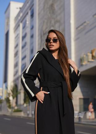 Пальто пв-263 черный2 фото