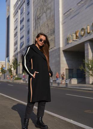 Пальто пв-263 черный6 фото