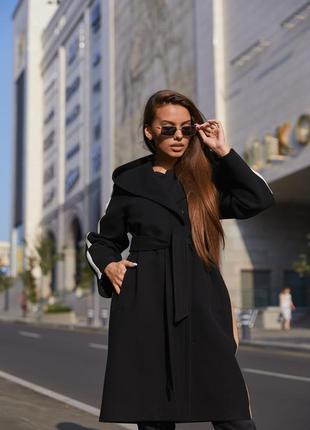 Пальто пв-263 черный3 фото