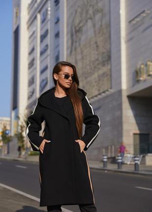 Пальто пв-263 черный7 фото