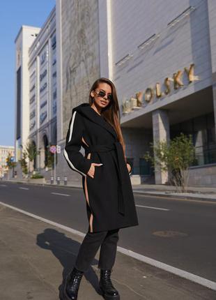 Пальто пв-263 черный1 фото