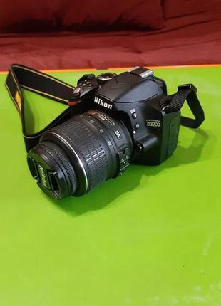 Nikon d3200 (пробег 5644) + 18-55 + 55-200 + 16gb + сумка + тренога
