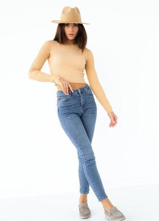Кофта приталенного силуэта с длинным рукавом6 фото