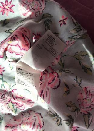 Юбка солнце клеш короткая на пуговицах цветочный принт пышная с высокой талией мятная голубая розовая5 фото