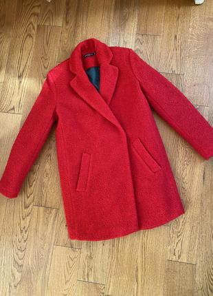 Пальто червоне2 фото