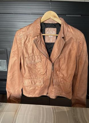 Кожаная куртка косуха diesel3 фото