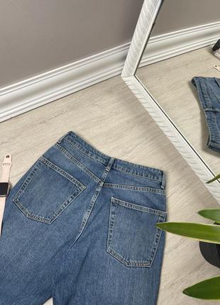 Джинсы женские topshop mom момы оригинал синие прямые высокая посадка4 фото