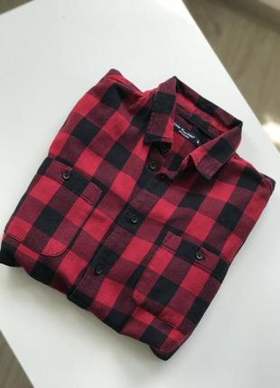 Рубашка в клетку , рубашка женская1 фото