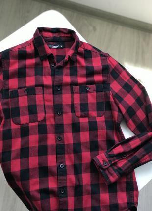 Рубашка в клетку , рубашка женская3 фото