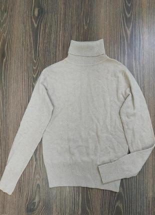 Кашемировый бежевый свитер/гольф/водолазка от essential4 фото