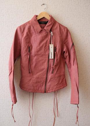 Кожаная куртка- косуха diesel