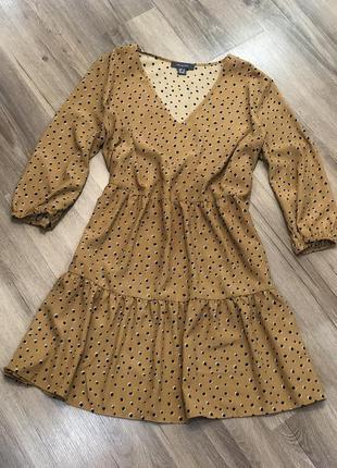 Ярусное платье primark свободное платье бронь