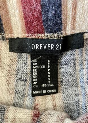Полосатые штаны брюки-клёш на резинке в парижском стиле от бренда forever 215 фото