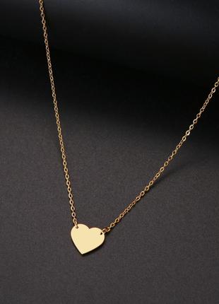 Цепочка с подвеской сердечком / цвет под золото / большая распродажа!