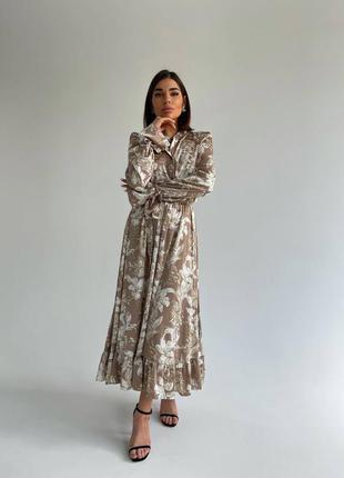 Платье «валенсия» .платье длинное .платье xs,s,m. стильное  платье тренд 20212 фото