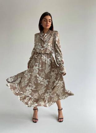 Платье «валенсия» .платье длинное .платье xs,s,m. стильное  платье тренд 20211 фото