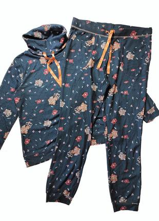 Красивый костюм, в цветочный принт, l 44-46 euro, наш 50-52, esmara4 фото