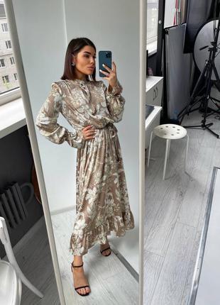 Платье «валенсия» .платье длинное .платье xs,s,m. стильное  платье тренд 20213 фото