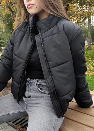 Красивая куртка зефирка1 фото