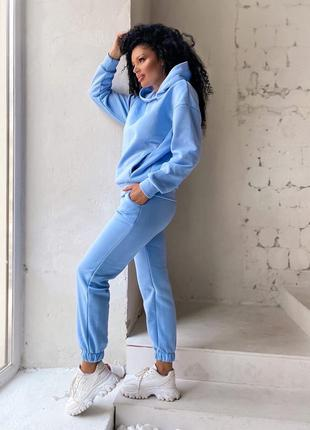 Женский тёплый костюм спортивный на флисе2 фото