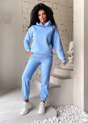 Женский тёплый костюм спортивный на флисе1 фото