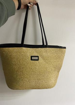 Якісна плетена ,солом'яна сумка esprit