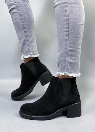 Ботинки нат.замша8 фото