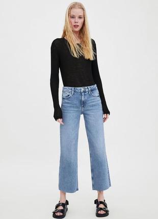 """Джинсы- кюлоты """"denim co"""" джинсовые кюлоты с необработанным краем"""