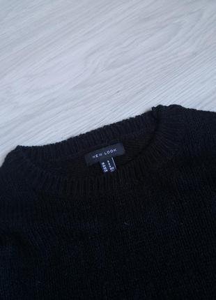 Базовый чёрный лёгкий свитер6 фото
