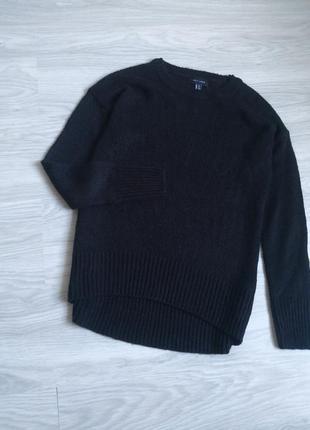 Базовый чёрный лёгкий свитер2 фото