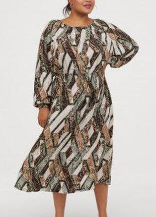 Вискозное миди платье  h&m2 фото