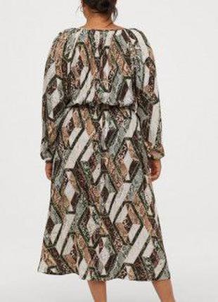 Вискозное миди платье  h&m3 фото