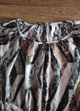 Вискозное миди платье  h&m6 фото
