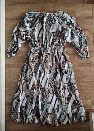 Вискозное миди платье  h&m5 фото