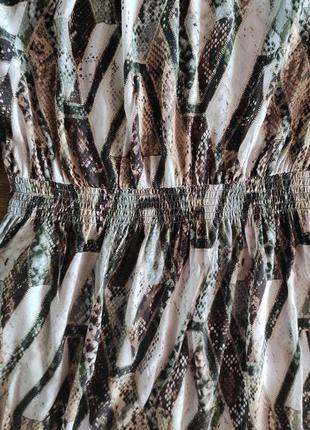 Вискозное миди платье  h&m7 фото
