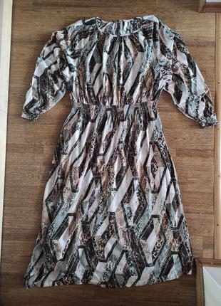 Вискозное миди платье  h&m4 фото