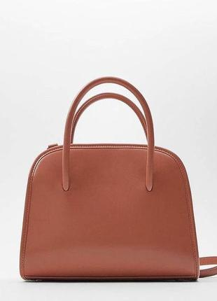 🛍️ новая рыжая сумка zara с биркой
