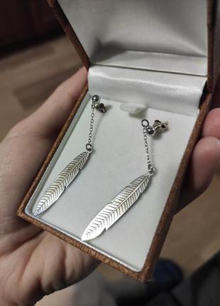 Серебряные серьги1 фото