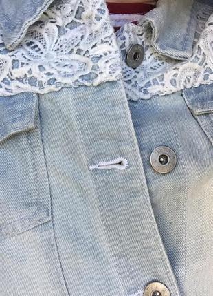 Джинсовый пиджак4 фото