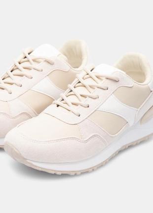 Бежевые кроссовки сникерсы новые3 фото