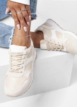 Бежевые кроссовки сникерсы новые2 фото