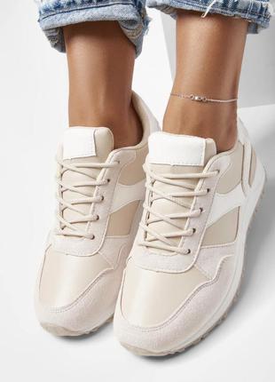 Бежевые кроссовки сникерсы новые1 фото
