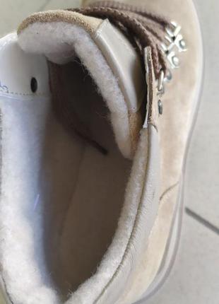 Осінні чобітки з натуральної замші5 фото