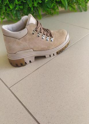 Осінні чобітки з натуральної замші3 фото
