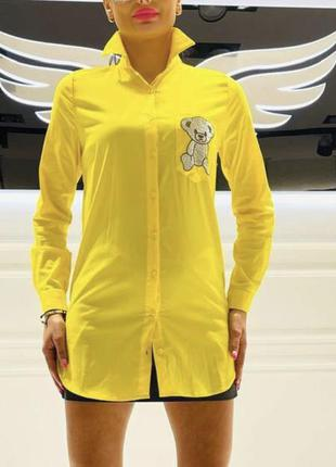 Жіноча жовта рубашка турція1 фото