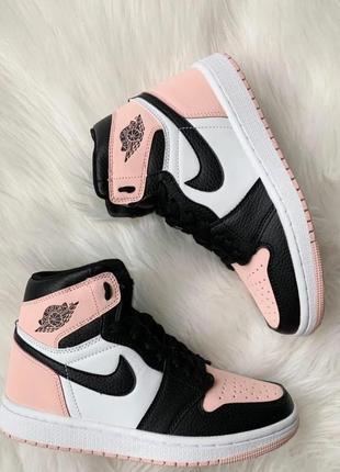 Кроссовки женские nike air jordan 1 retro high pink найк аир джордан розовый3 фото