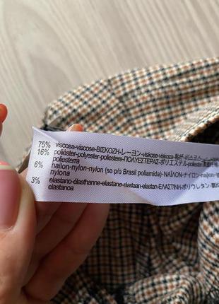 Стильные лосины,леггинсы,брюки с высокой посадкой,талией в гусиную ламку xl  от zara7 фото