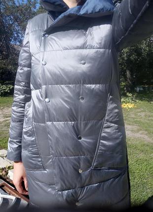 Плащ- курточка пуховий, двосторонній1 фото