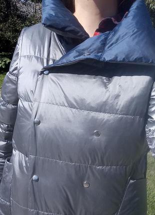 Плащ- курточка пуховий, двосторонній2 фото