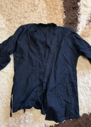 Льняное кимоно1 фото